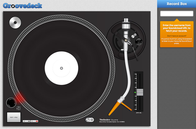 Groovedeck user interface