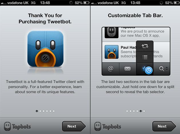 Tweetbot in-app onboarding