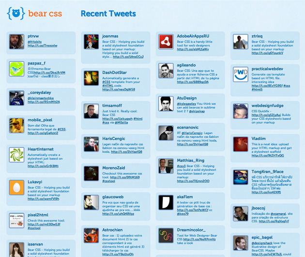 Bear CSS tweets
