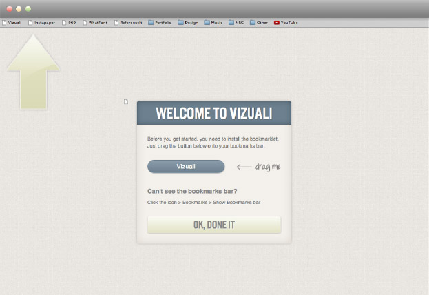 Vizuali onboarding Version 2, screen 1