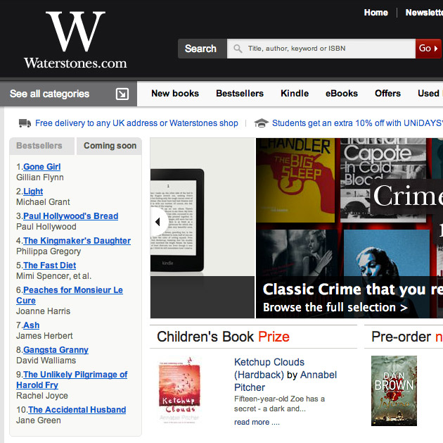 Waterstones Best Sellers