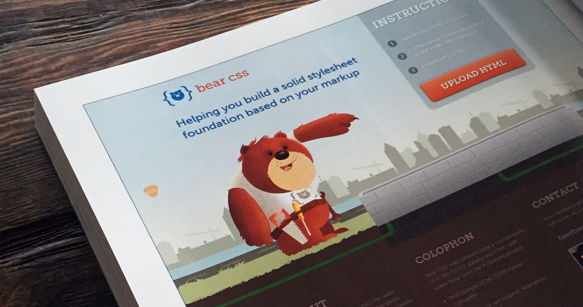 Bear CSS featured in The Web Designers Idea Book